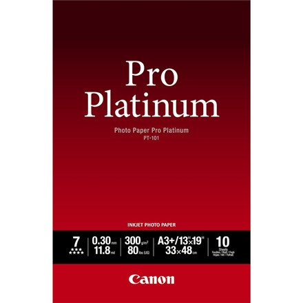 Canon - A3+ 300 gram PT-101 Photo Paper Pro Platinum 10 ark