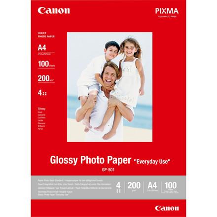 Canon - A4 200 gram GP-501 Glossy Foto papir - 100 ark