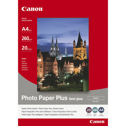 Canon - A4 260 gram SG-201 Foto papir Plus Semigloss - 20 ark