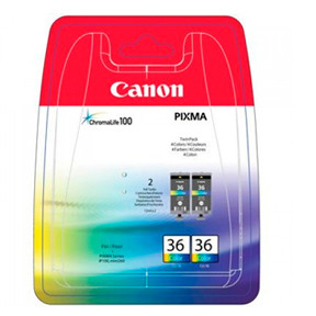 Canon CLI-36 color ink tank twin-pack
