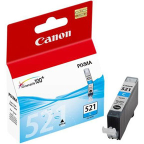 Canon CLI-521C cyan ink cartridge, blistered