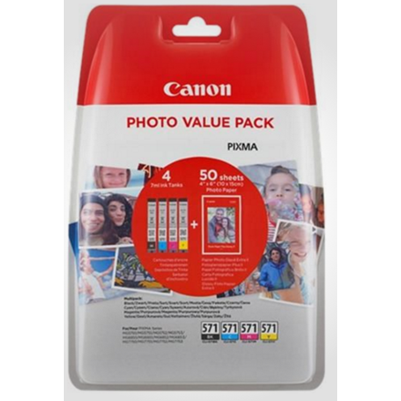 Canon CLI-571XL value pack & 10x15 PP 201 (50)