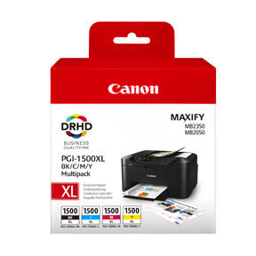 Canon PGI-1500XL BK/C/M/Y ink cart. value pack blister