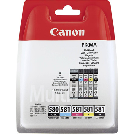 Canon PGI-580/CLI-581 BK/C/M/Y/K multipack