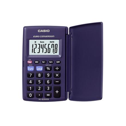 Lommeregner Casio HL-820VER - med cover