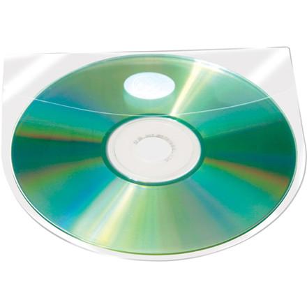 CD lommer - Selvklæbende glasklar med klap BNT - 100 stk i pakke