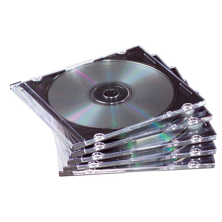 Fellowes CD/DVD Slim Jewel Cases 98316 - 25 stk