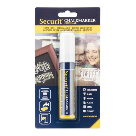 Chalkmarker Securit hvid 7-15mm 1stk/pak