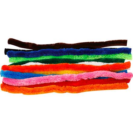 Piberensere tykkelse 25 mm længde 45 cm assorteret farver - 60 stk.