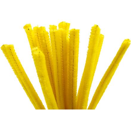 Piberenser tykkelse 9 mm længde 30 cm gul - 25 stk.