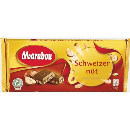 Chokolade, Marabou, Schweizernød,