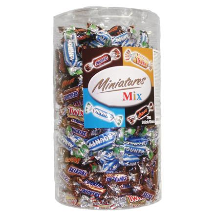 Chokolade, Mars Miniature Mix, cylinder,