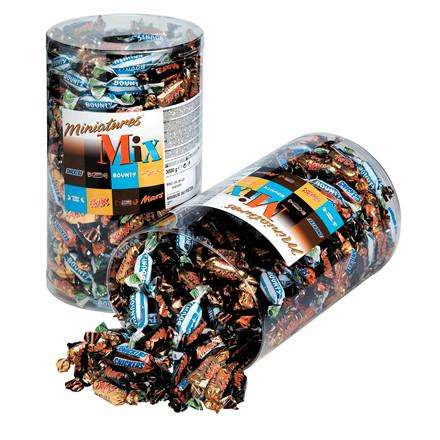 Chokolade Mixed miniatures - 3 kg - 296 stk. i pakken