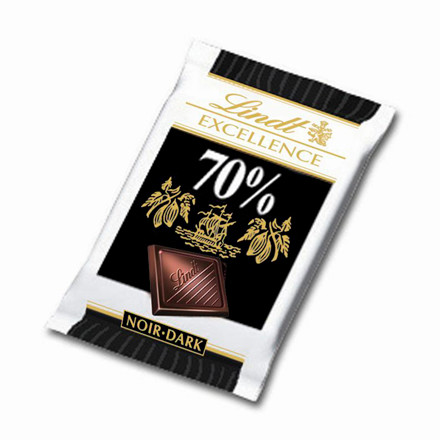 Chokolade mørk - 5,5 gram pr. stk. - 200 stk. i en pakke