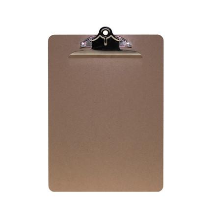 Clipboard A4 MDF m. kraftig klemme brun