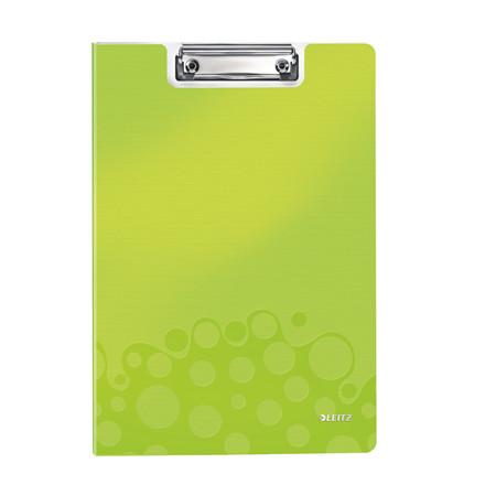 Clipboard Leitz WOW m/forside A4 grøn