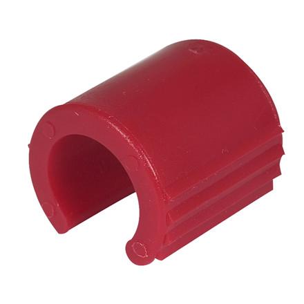 Clips, til sækkeholder, rød,