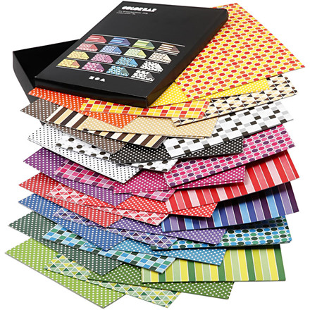 Color Bar rivekarton A4 21 x 30 cm 250 gram ass. farver mønstret karton - 160 ass. ark