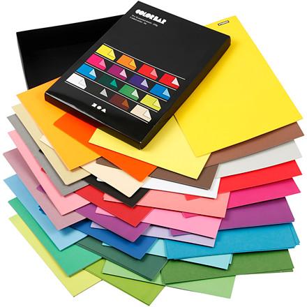 Color Bar rivepapir, A4 21x30 cm, 100 g, ass. farver, ensfarvet papir, 160ass. ark