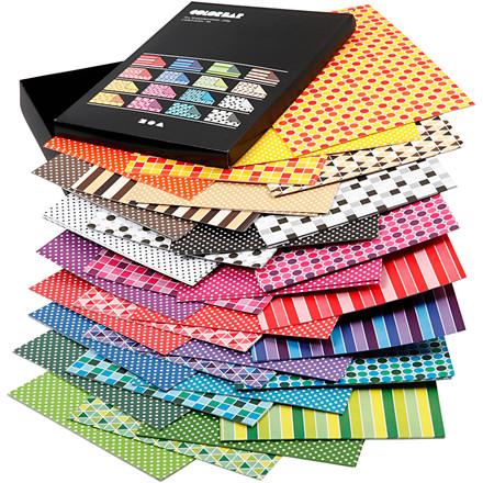 Color Bar rivepapir, A4 21x30 cm, 100 g, ass. farver, mønstret papir, 160ass. ark