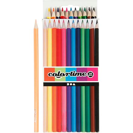 Farveblyanter Colortime Basic 3 mm - Pakke med 12 farver