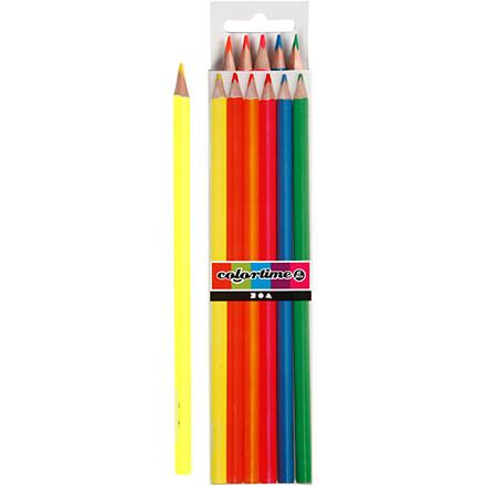 Colortime farveblyanter, mine: 3 mm, neonfarver, 6stk.