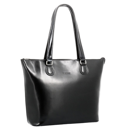 "Computertaske Pierre Lady Classic Line 15,4"" sort læder"