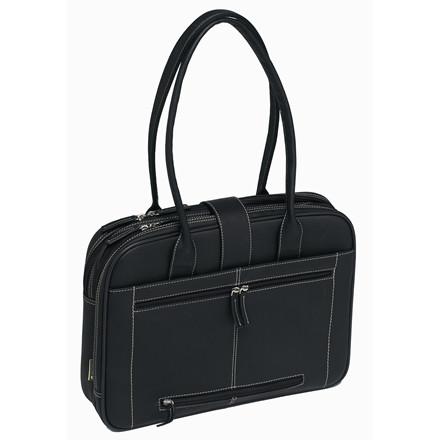 Computertaske Pierre Lady læder sort med 2 rum 612310