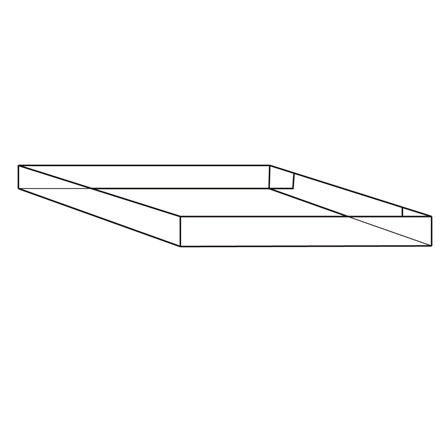 Containerbund eller top 24 - 1 Bølge - 80 x 60 x 10 cm - 4-punkt limet