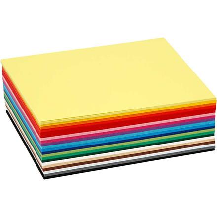 Creativ karton, A6 10,5x15 cm, 180 g, ass. farver, 120ass. ark