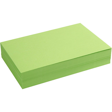 Creativ papir, A4 21x30 cm, 80 g, grøn, 500ark