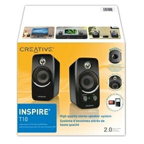 Creative INSPIRE T10 2.0 Speaker  Black