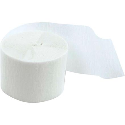 Crepepapir ruller, B: 5 cm, L: 20 m, hvid, 20rl.