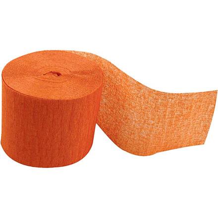 Crepepapir ruller - Orange - 5 cm bred - 20 m længde - 20 ruller