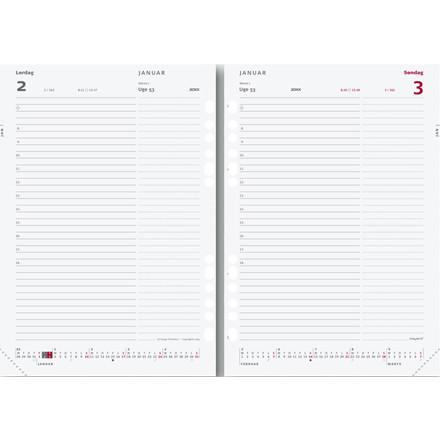Dagkalender System A5 refill 15x21cm 20 3050 00