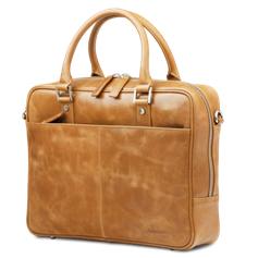 Dbramante1928 Leather business bag Rosenborg up to 14'' – golden tan