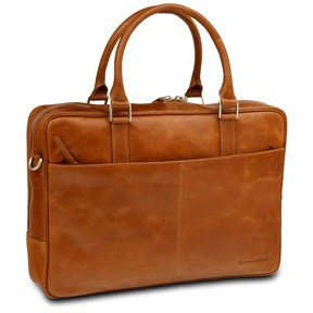 Dbramante1928 Leather business bag Rosenborg up to 16'' - golden tan