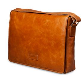 Dbramante1928 Leather messenger bag Marselisborg up to 14'' - golden tan