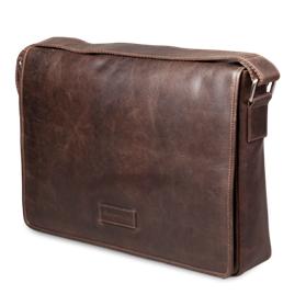 Dbramante1928 Leather messenger bag Marselisborg up to 14'' - Hunter dark