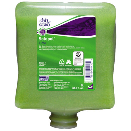 Deb Lime wash, med parfume, med micro polykugler, refill-patron, 2000 ml