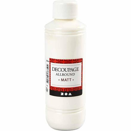Decoupagelak mat - 250 ml