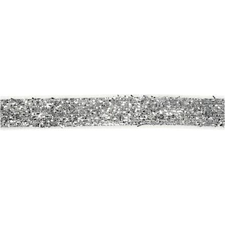 Dekorationsbånd bredde 10 mm sølv Skagen | 5 meter