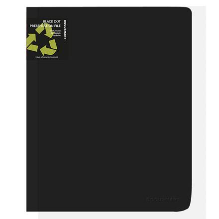 A4 Demomappe med forsidelomme sort BNT - med 20 lommer