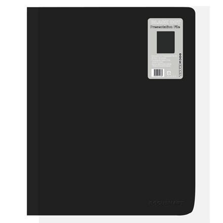 A4 Demomappe med forsidelomme sort BNT - med 60 lommer