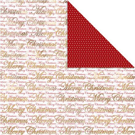 Vivi Gade Designpapir guld glædelig jul og prikker ark 30,5 x 30,5 cm 180 gram | 3 ark