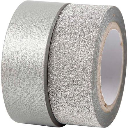 Designtape bredde 15 mm sølv Skagen | 2 ruller