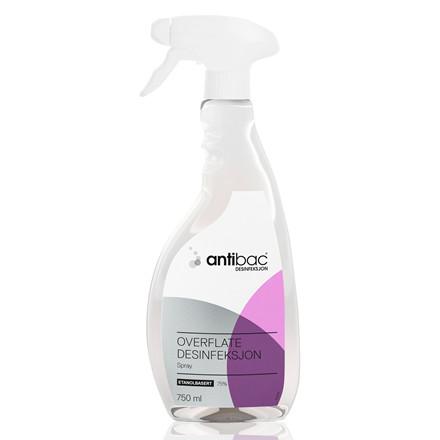 Desinfektion Antibac 750ml til overflader m. sprayhoved 750ml