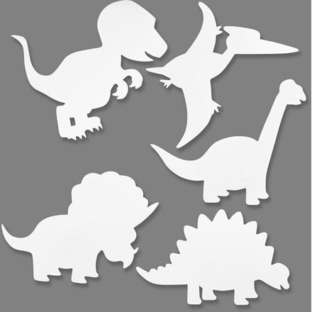 Dinosaurer højde 15-22 cm bredde 24-25 cm 230 gram   16 stk.