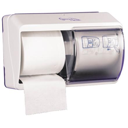 Dispenser, Abena, til 2 ruller toiletpapir, transparent,