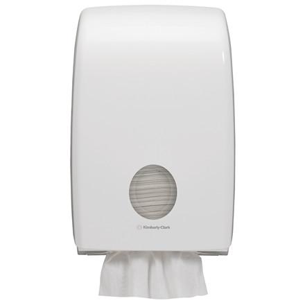 Dispenser, Aquarius, til interfold håndklædeark, hvid,